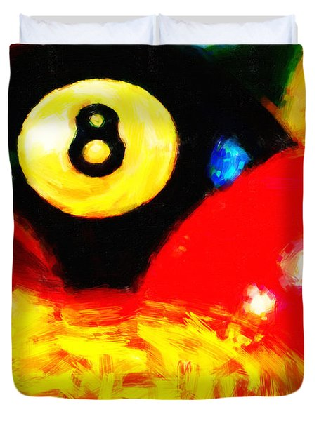 Behind The Eight Ball - Vertical Cut Duvet Cover by Wingsdomain Art and Photography