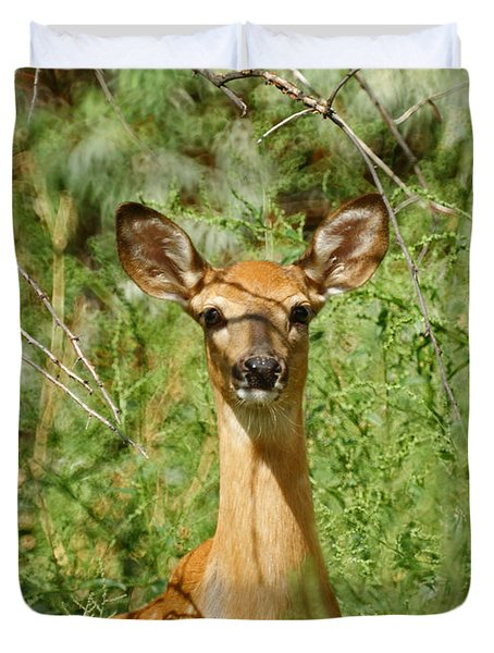 Being Watched Duvet Cover by Ernie Echols