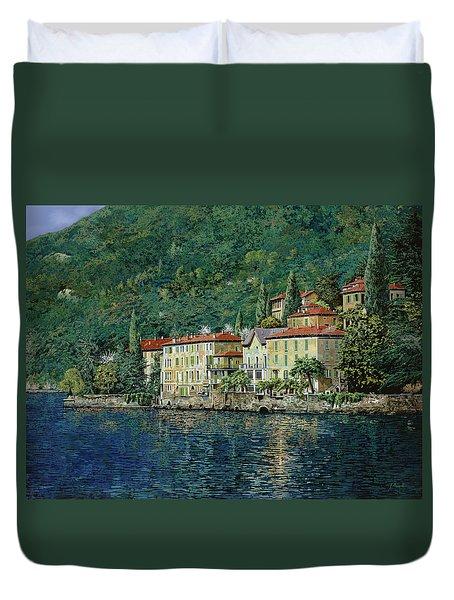 Bellano on Lake Como Duvet Cover by Guido Borelli