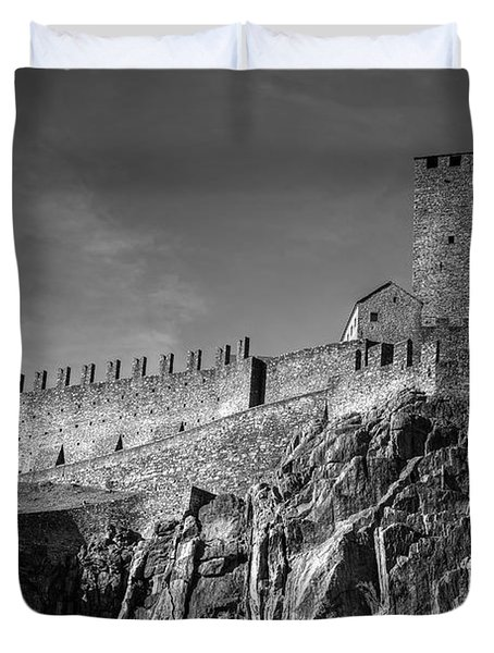 Bellinzona Switzerland Castelgrande Duvet Cover by Joana Kruse