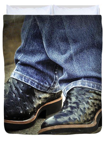 Bennys Boots Duvet Cover by Joan Carroll