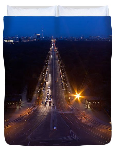 Berlin From The Siegessaule  Duvet Cover by Mike Reid