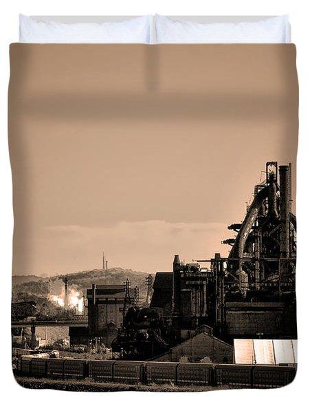 Bethlehem Steel Duvet Cover by Bill Cannon
