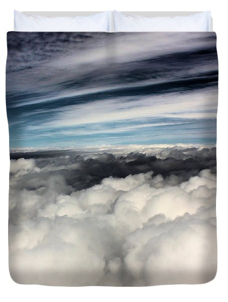 Between Heaven And A Soft Place Duvet Cover by Kristin Elmquist