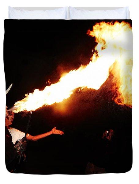 Big Axe Of Fire Duvet Cover by Agusti Pardo Rossello