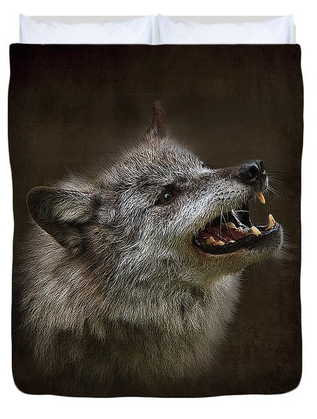 Big Bad Wolf Duvet Cover by Louise Heusinkveld