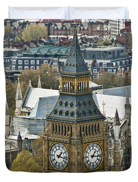 Big Ben Up Close And Personal Duvet Cover by Douglas Barnett