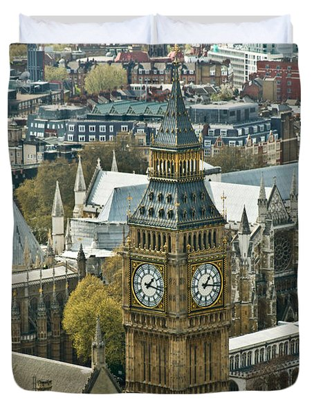 Big Ben Up Close Duvet Cover by Douglas Barnett