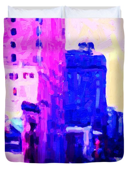 Big City Blues Duvet Cover by Wingsdomain Art and Photography