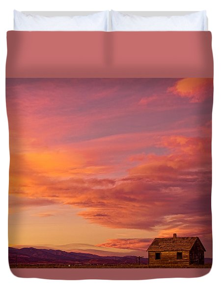 Big Colorful Colorado Sky And Little House On The Prairie Duvet Cover by James BO  Insogna