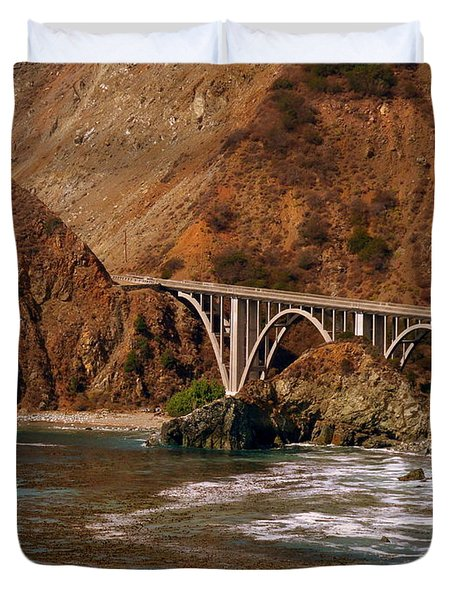 Big Creek Bridge Close Duvet Cover by Jeff Lowe