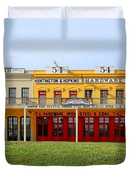 Big Four Building Sacramento California Duvet Cover by Christine Till