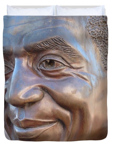 Bill Cosby Bust I Duvet Cover by Jeff Lowe