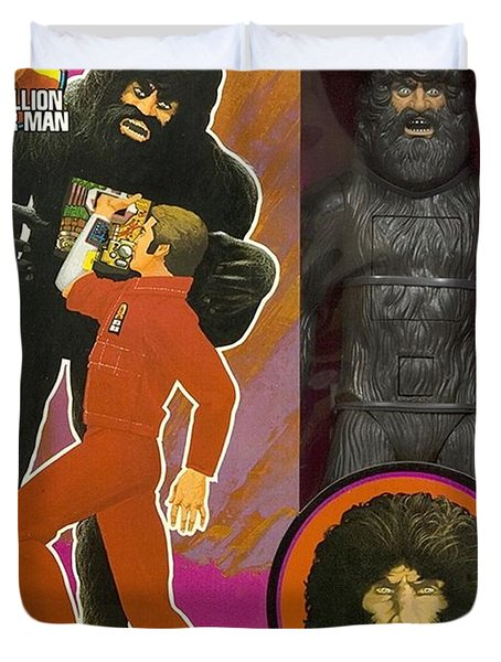 Bionic Bigfoot Duvet Cover by Paul Van Scott