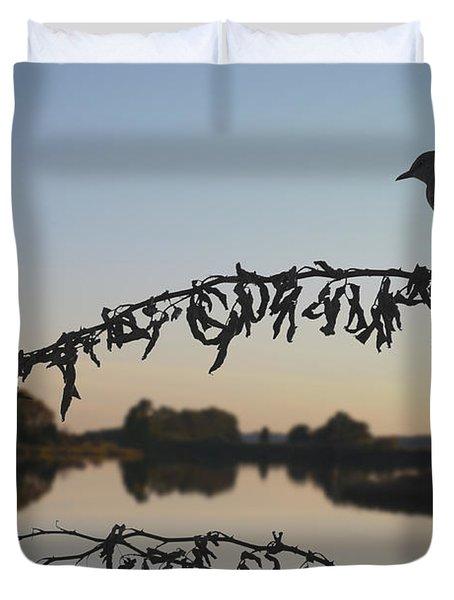 Bird Song At Last Light Duvet Cover by David Gordon