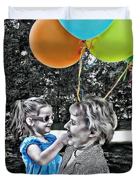 Birthdays Duvet Cover by Joan  Minchak