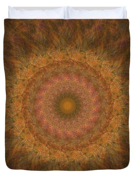 Birthing Mandala 18 Duvet Cover by Rhonda Barrett