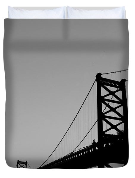 Black And White Bridge Duvet Cover by Bill Cannon