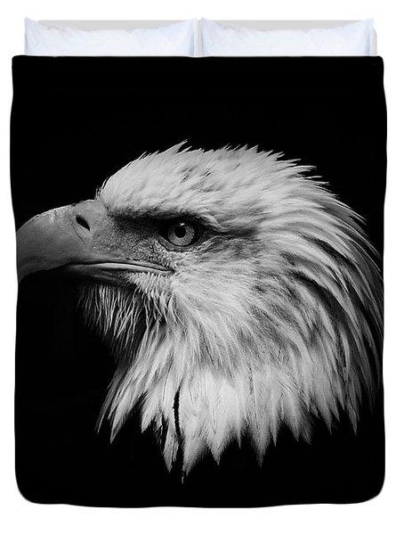 Black and White Eagle Duvet Cover by Steve McKinzie