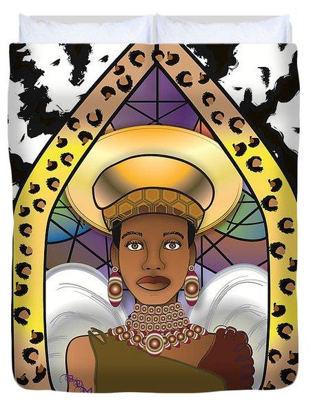 BLACK ANGEL Duvet Cover by BRENDA DULAN MOORE
