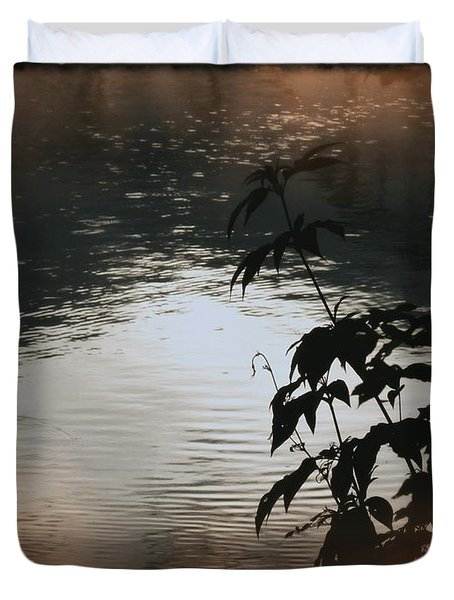 Black Bamboo Duvet Cover by Angela Wright