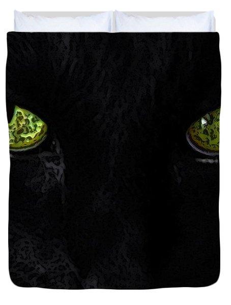 Black Cat Mystique Duvet Cover by Dale   Ford