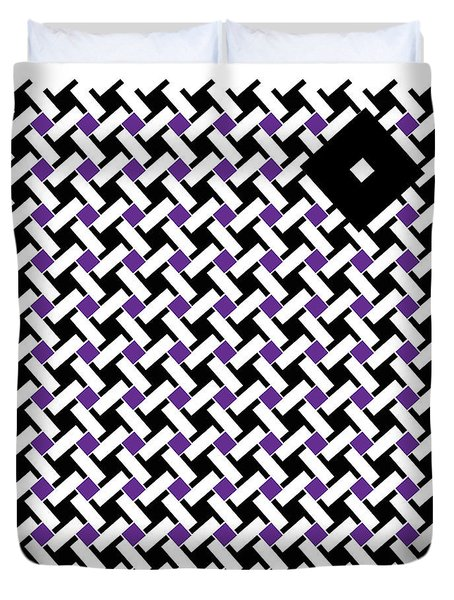 Black Flag 4. Duvet Cover by Nancy Mergybrower