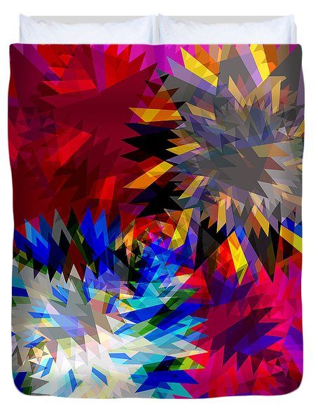 blade in pink Duvet Cover by ATIKETTA SANGASAENG