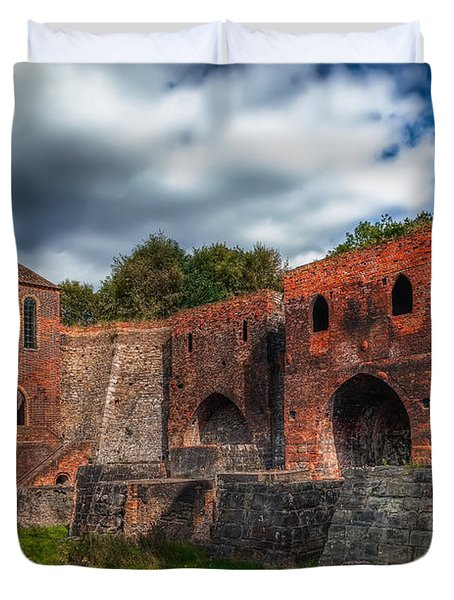 Blast Furnaces Duvet Cover by Adrian Evans