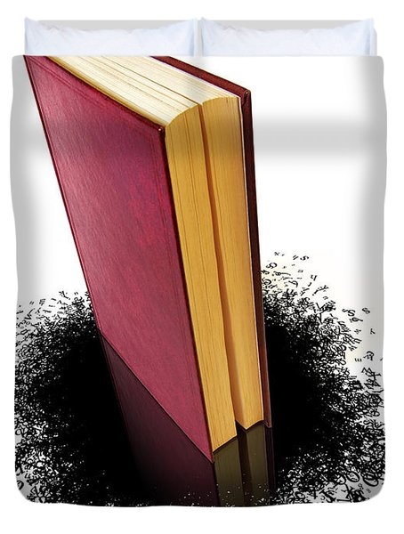 Bleading Book Duvet Cover by Carlos Caetano