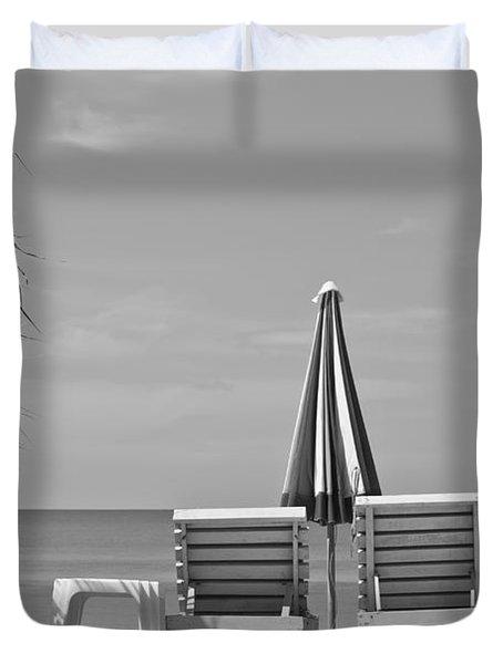 Bliss Is The Beach Duvet Cover by Georgia Fowler