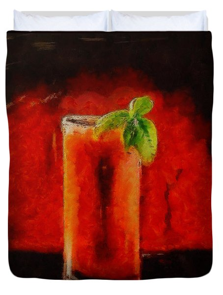 Bloody Mary Coctail Duvet Cover by Dragica  Micki Fortuna