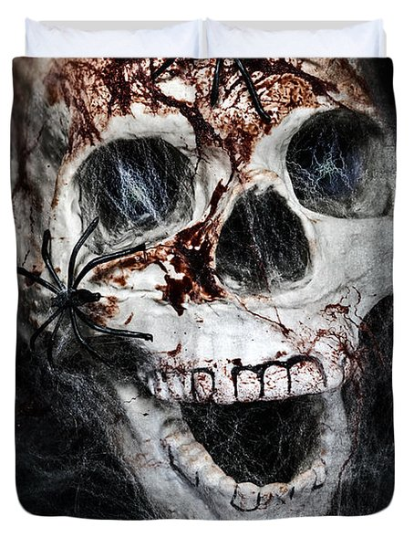 Bloody Skull Duvet Cover by Joana Kruse
