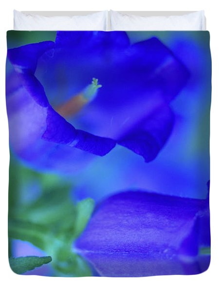 Blue Bell Flowers Duvet Cover by Kathy Yates