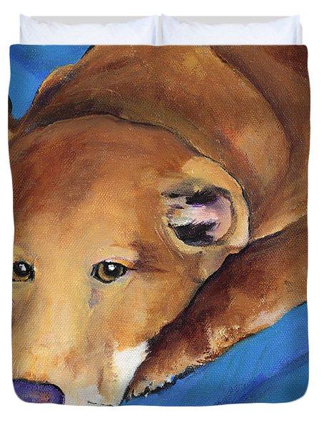 Blue Blanket Duvet Cover by Pat Saunders-White
