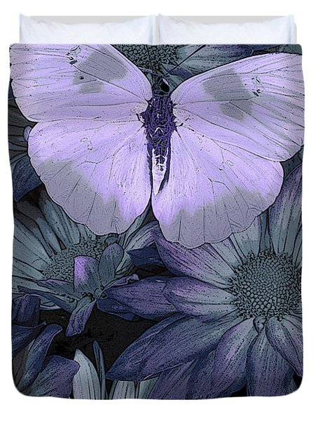 Blue Butterfly Duvet Cover by JQ Licensing