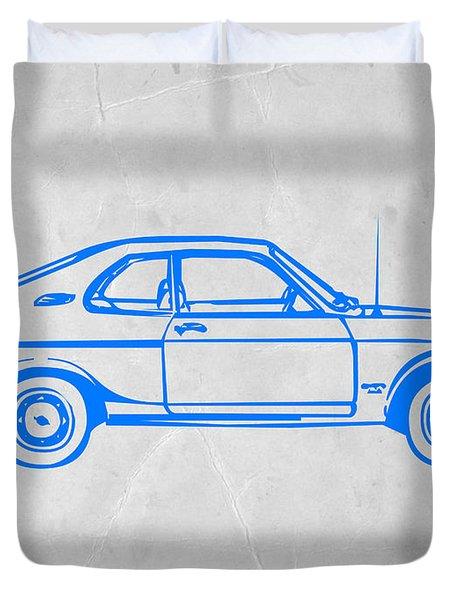 Blue Car Duvet Cover by Naxart Studio
