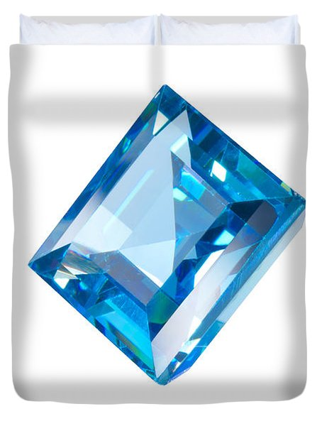 blue gem isolated Duvet Cover by ATIKETTA SANGASAENG