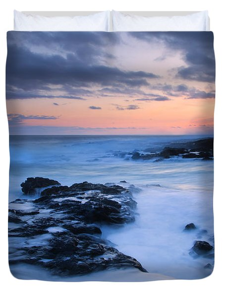 Blue Hawaii Sunset Duvet Cover by Mike  Dawson