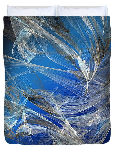 Blue Legacy Duvet Cover by Andee Design