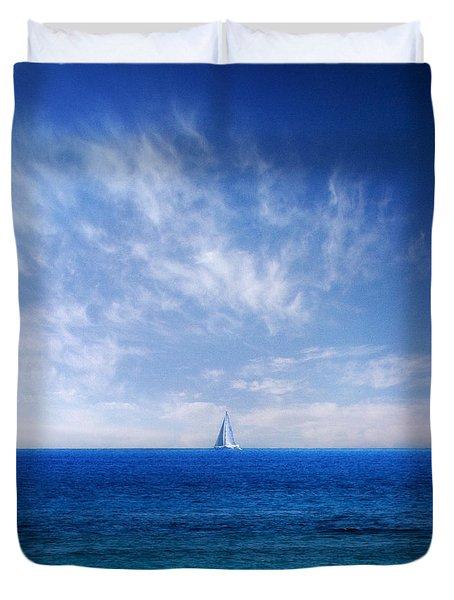blue mediterranean Duvet Cover by Stylianos Kleanthous