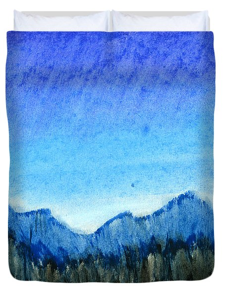 Blue Mountains Duvet Cover by Hakon Soreide