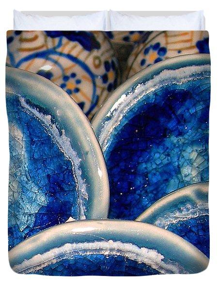 Blue On Blue Duvet Cover by Judi Bagwell