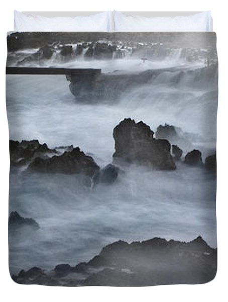 Blue Storm..protaras Duvet Cover by Stelios Kleanthous