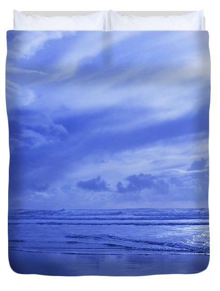 Blue Waterscape Duvet Cover by Christine Mariner