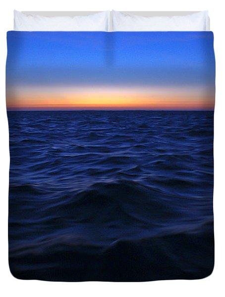 Bluewater Sunset Duvet Cover by Gary Eason