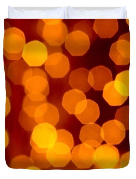 Blurred Christmas Lights Duvet Cover by Carlos Caetano