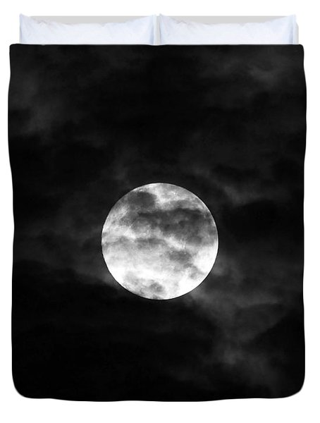Blustery Blue Moon Duvet Cover by Al Powell Photography USA