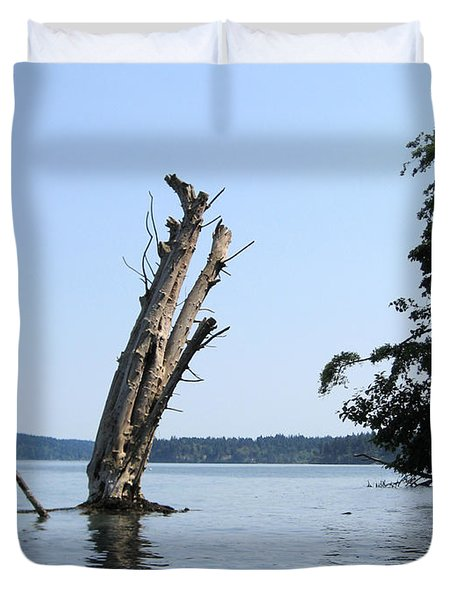 Boaters Nightmare Duvet Cover by Kym Backland