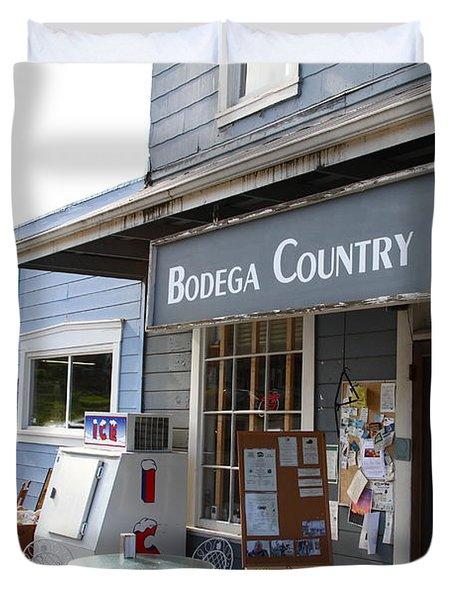 Bodega Country Store . Bodega Bay . Town of Bodega . California . 7D12452 Duvet Cover by Wingsdomain Art and Photography